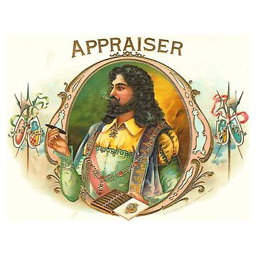 Appraiser - Vintage Cigar Box Art by Chunga