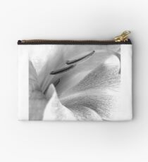 Black and grey lily Studio Pouch