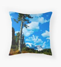 Lone Sentinel in Paradise Throw Pillow