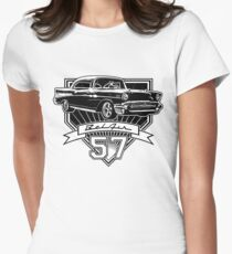 57 Chevy Belair Women's Fitted T-Shirt