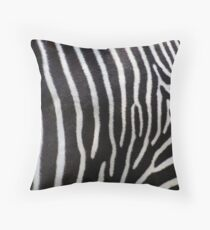 Zebra Patterns in Black and White.... Throw Pillow