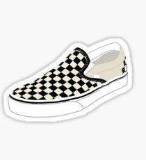 Checkered Sneaker Sticker Sticker