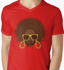 Afro Cool Mens V-Neck T-Shirt