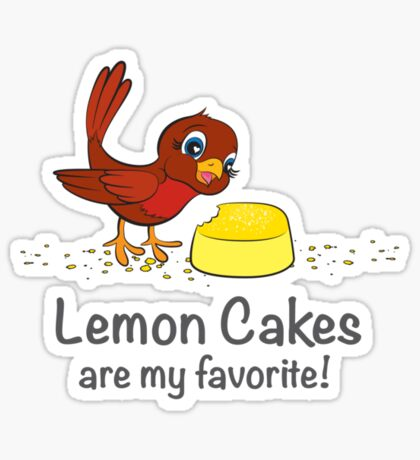 Lemon Cakes are my favorite! Sticker