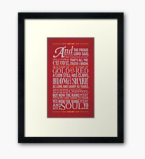 The Rains of Castamere Framed Print