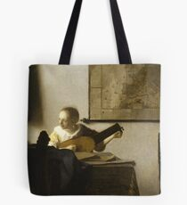 Woman With a Lute Near a Window Tote Bag