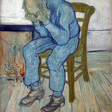 'At Eternity's Gate' by Vincent Van Gogh (Reproduction) by RozAbellera