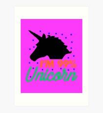 Ich bin 99% Unicorn Kunstdruck