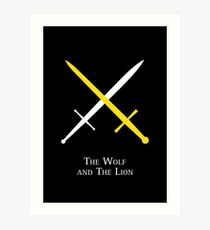 The Wolf and The Lion Art Print