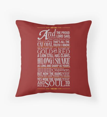 The Rains of Castamere Throw Pillow