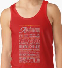 The Rains of Castamere Tank Top