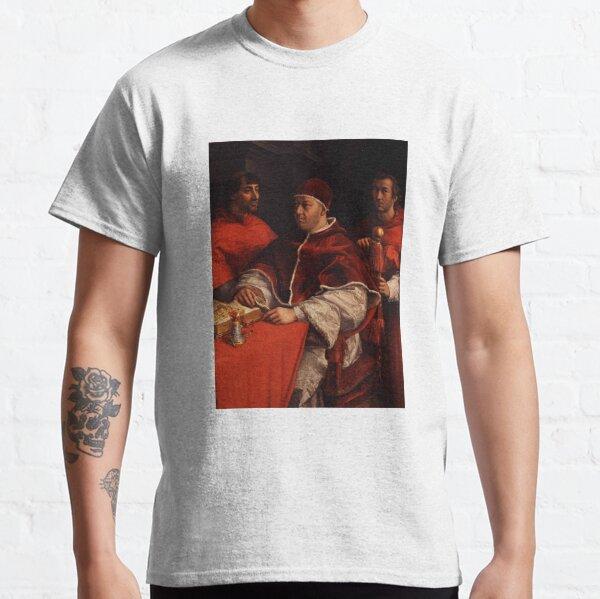 Portrait of Pope Leo X with Cardinals Giulio de' Medici and Luigi de' Rossi by Raphael Classic T-Shirt