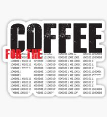 Coffee for code Sticker