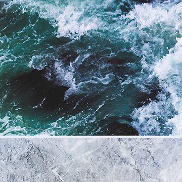 Ocean Marble by ArielClark93