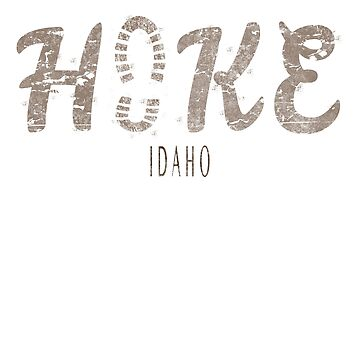 Hike Idaho footprint design  by jhussar