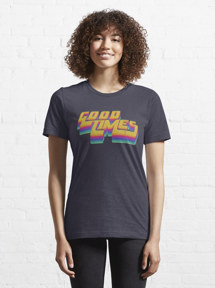 Alternate view of Good Times Seventies 70s T-Shirt Cool Vintage Retro Style Essential T-Shirt