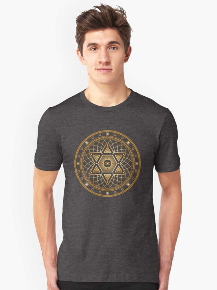 Esoteric Occult Sacred Geometry and Alchemy Gifts Unisex T-Shirt Front
