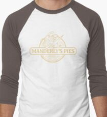 Manderly's Pies (in tan) Men's Baseball ¾ T-Shirt