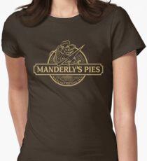 Manderly's Pies (in tan) Women's Fitted T-Shirt