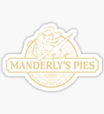 Manderly's Pies (in tan) Sticker
