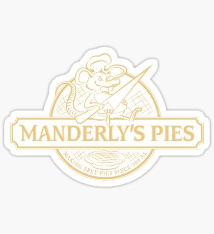 Manderly's Pies (in tan) Sticker