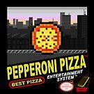 Retro Pepperoni Pizza by Ricky.Angelo Pasco
