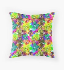 Cristal Orchids Throw Pillow