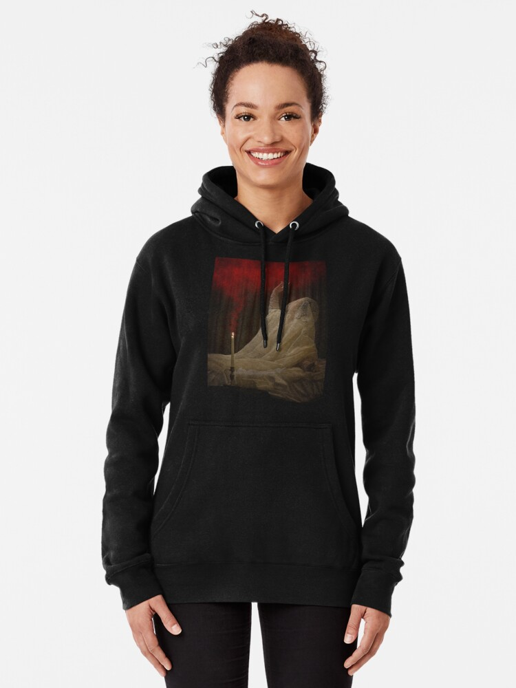 Alternate view of The Queen Lay Dying Of Her Own Will Pullover Hoodie