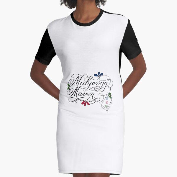 Mahjongg Mahjong Maven Design on Light Background Graphic T-Shirt Dress