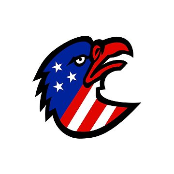 American Flag Inside Eagle Mascot by patrimonio