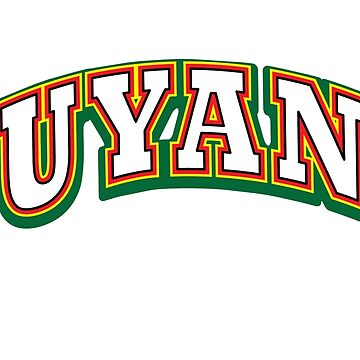 Guyana - Bold, National Colors by identiti