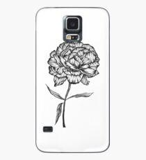 Peony Ink Sketch Case/Skin for Samsung Galaxy