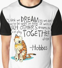 Calvin and Hobbes Dreams Quote Graphic T-Shirt