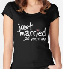 20th Wedding Anniversary Gifts - Just Married 20 Years Ago Women's Fitted Scoop T-Shirt