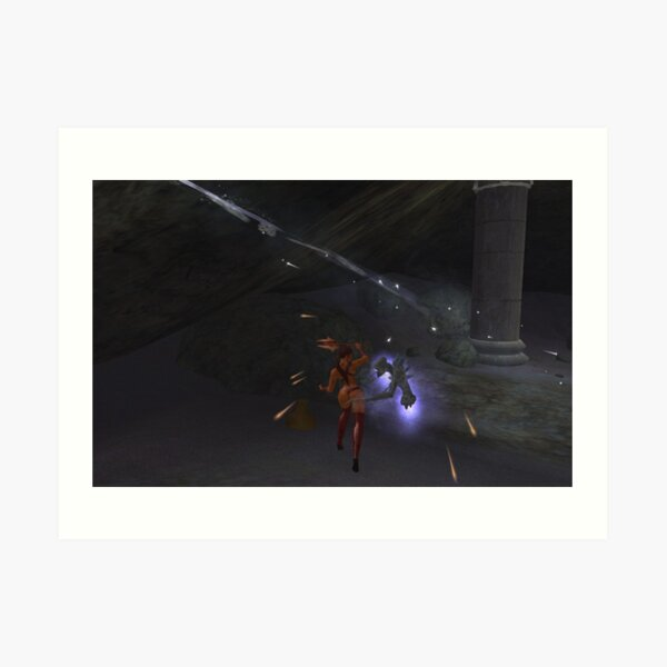 Lady Sheenah vs. The Nerva Spectral Daemon Art Print