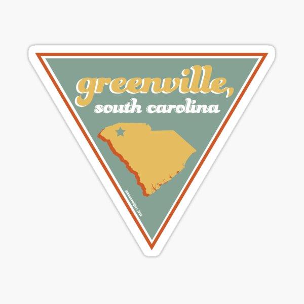Vintage Greenville South Carolina Sticker