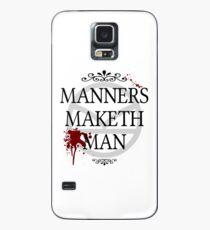 Manners Maketh Man Case/Skin for Samsung Galaxy
