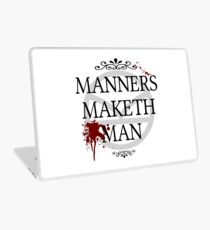 Manners Maketh Man Laptop Skin