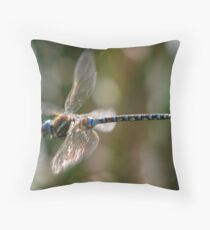 Flying Dragonfly Throw Pillow