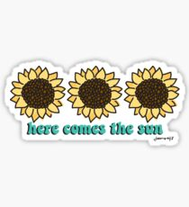 Here Comes the Sun-flowers Sticker