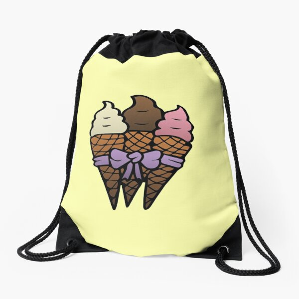 Ice Cream Bouquet Drawstring Bag
