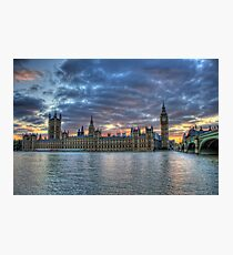 London  Westminster at Sunset, London England Photographic Print