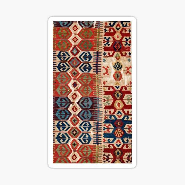 Aksaray Tribal  Antique Turkish Kilim Print Sticker