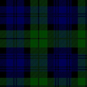 Scotland Black Watch Campbell Tartan Phone Case by closeddoor