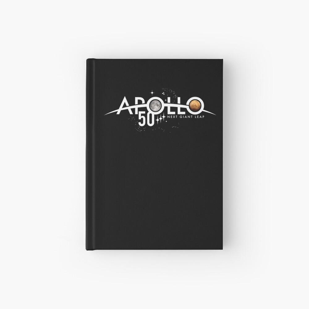 Apollo 50th Anniversary Logo - Nächster Riesensprung - Zuerst der Mond, nächster Mars! Notizbuch