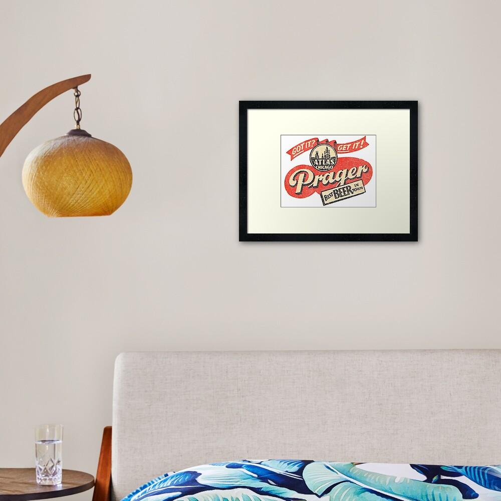 Prager Beer Framed Art Print