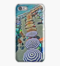 Summer at Monterosso Beach Italy iPhone Case/Skin