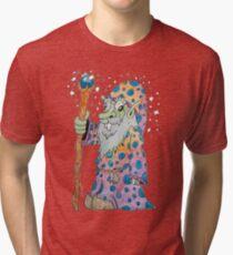 Wacky Elf Wizard Tri-blend T-Shirt