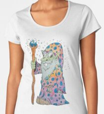 Wacky Elf Wizard Women's Premium T-Shirt