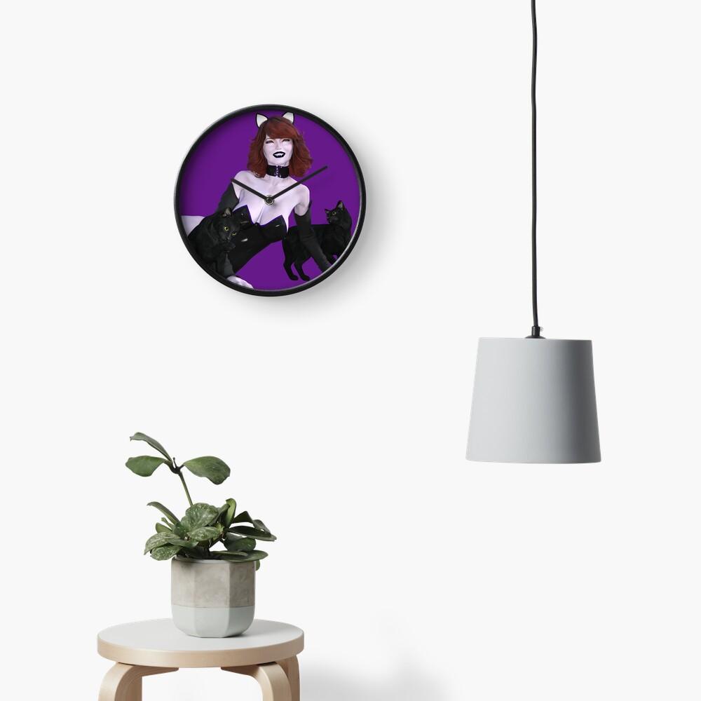 Undead Angels: Vampire Cat Girl Clock